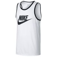 Nike Ace Logo Tank - Men's - White / Black