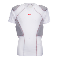 McDavid Rival Pro 5 Pad Short Sleeve Shirt - Youth - White / Grey