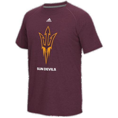 Adidas college big logo performance t shirt men 39 s Arizona state golf shirts
