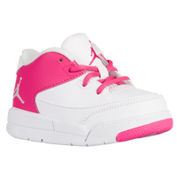 Jordan Flight Origin 3 - Girls' Toddler - White / Pink