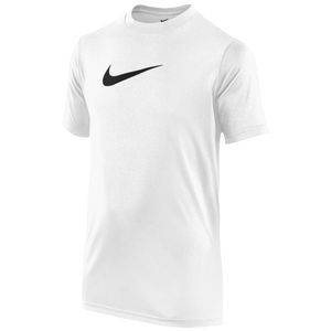 Nike Legend S/S T-Shirt - Boys' Grade School - White/Black