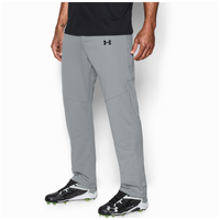 Under Armour Leadoff  III Open Bottom Pants - Men's - Grey / Grey