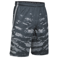 Under Armour Baseball Training Shorts - Men's - Grey / Grey