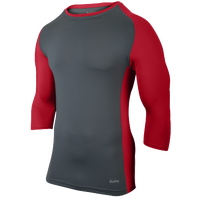 Eastbay Baseball Compression Top - Men's - Grey / Red