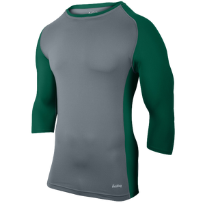 Eastbay Baseball Compression Top - Men's - Grey/Forest
