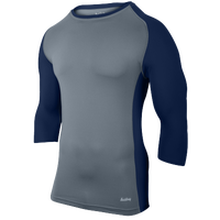 Eastbay Baseball Compression Top - Men's - Grey / Navy