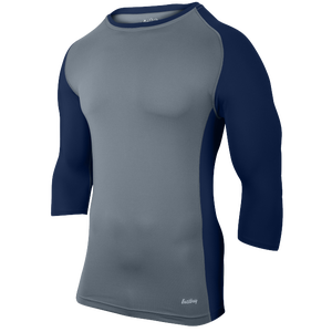 Eastbay Baseball Compression Top - Men's - Grey/Navy