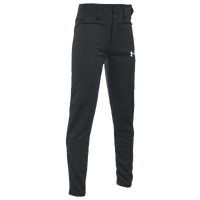 Under Armour Clean Up Open Bottom Pants - Boys' Grade School - All Black / Black