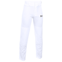 Under Armour Clean Up Open Bottom Pants - Boys' Grade School - All White / White