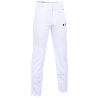 Under Armour Leadoff  III Open Bottom Pants - Boys' Grade School - All White / White