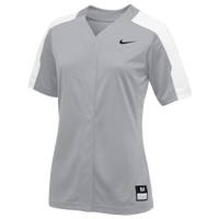 Nike Team Vapor Pro Full Button Jersey - Women's - Grey / White