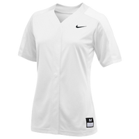 Nike Team Vapor Pro Full Button Jersey - Women's - All White / White