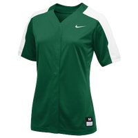 Nike Team Vapor Pro Full Button Jersey - Women's - Dark Green / White