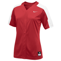 Nike Team Vapor Pro Full Button Jersey - Women's - Red / White