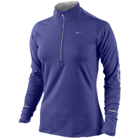 Nike Dri-FIT Element 1/2 Zip Top - Women's - Purple / Purple