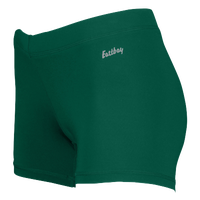 "Eastbay Team 3"" Compression Track Shorts - Women's - Dark Green / Dark Green"