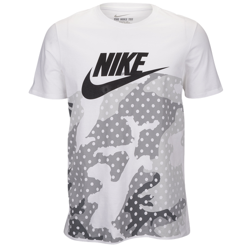 nike graphic t shirt men 39 s casual clothing white grey black. Black Bedroom Furniture Sets. Home Design Ideas