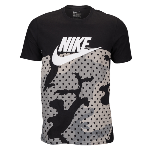 nike graphic t shirt men 39 s casual clothing black greys. Black Bedroom Furniture Sets. Home Design Ideas