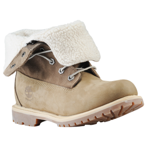 Timberland Teddy Fleece Fold Down Boots - Women's - Taupe Nubuck