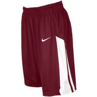 Nike Team Fastbreak Shorts - Women's - Maroon / White