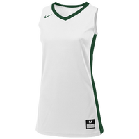 Nike Team Fastbreak Jersey - Girls' Grade School - White / Dark Green