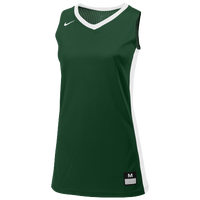 Nike Team Fastbreak Jersey - Girls' Grade School - Dark Green / White