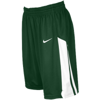 Nike Team Fastbreak Shorts - Girls' Grade School - Dark Green / White