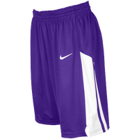 Nike Team Fastbreak Shorts - Girls' Grade School - Purple / White