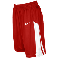 Nike Team Fastbreak Shorts - Girls' Grade School - Red / White