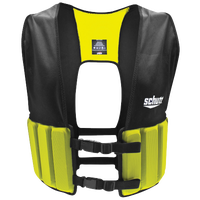 Schutt Lightweight Varsity Rib Vest - Men's - Black / Light Green
