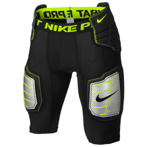 Nike Pro Combat Hyperstrong Girdle - Men's - Black/Volt