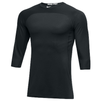 Nike Team Hypercool 3/4 Sleeve Top - Men's - All Black / Black