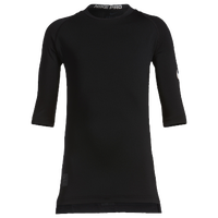 Nike Cool Short Sleeve Compression Top - Boys' Grade School - All Black / Black