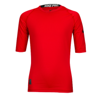 Nike Cool Short Sleeve Compression Top - Boys' Grade School - Red / Black