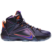 Nike Lebron 12 - Men's - Lebron James - Purple / Orange