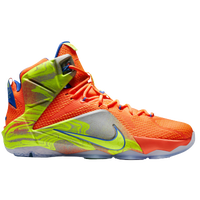 Nike Lebron 12 - Men's - Lebron James - Orange / Grey