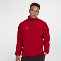Jordan Re2pect Batting Cage Jacket - Men's - Red / White