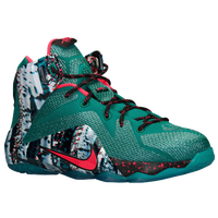 Nike Lebron 12 - Boys' Grade School - Dark Green / Red