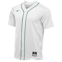 Nike Team Vapor Full Button Dinger Jersey - Men's - White / Dark Green