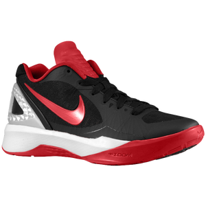 Nike Volley Zoom Hyperspike - Women's - Black/Metallic Silver/White/Gym Red