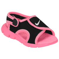 Nike Sunray Adjust 4 - Girls' Toddler - Black / Pink