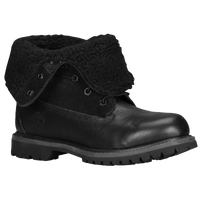 Timberland Teddy Fleece Fold Down Boots - Women's - All Black / Black