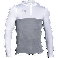 under armour qualifier 1 4 zip. under armour team tech 1/4 zip hoodie - men\u0027s white / grey qualifier 1 4