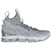 Nike LeBron 15 - Men's -  Lebron James - Grey / Gold
