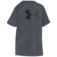 Under Armour Big Logo Tech S/S T-Shirt - Boys' Grade School - Grey / Black