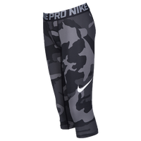 Nike Hypercool 3/4 Compression Tights - Boys' Grade School - Grey / Black