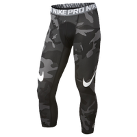 Nike Hypercool 3/4 Compression Tights - Men's - Black / Grey