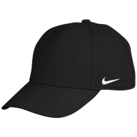 Nike Team Legacy 91 Swoosh Flex Cap - Men's - All Black / Black