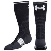 Under Armour Football Crew Socks - Grade School - Black / White