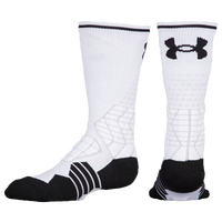 Under Armour Football Crew Socks - Youth - White / Black
